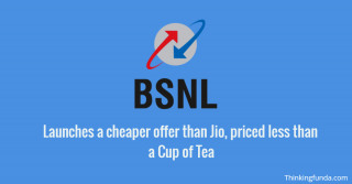 Thinkingfunda BSNL launches a cheaper offer than Jio, priced less than a Cup of Tea